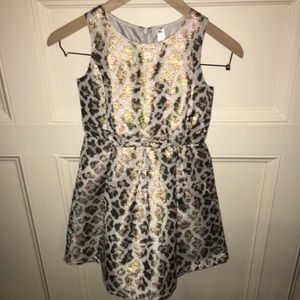 NWOT CHEROKEE GOLD SHIMMER PLEATED FLARE DRESS